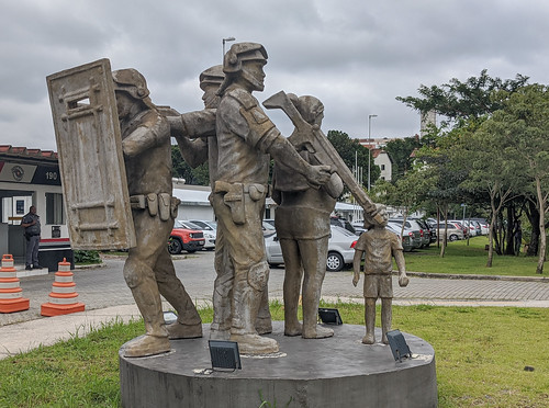 Monument to local police in Sao Paulo