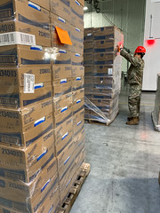 Oregon National Guard prepares supplies for delivery in response to COVID-19