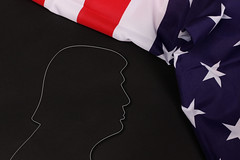 Trump Silhouette with American Flag