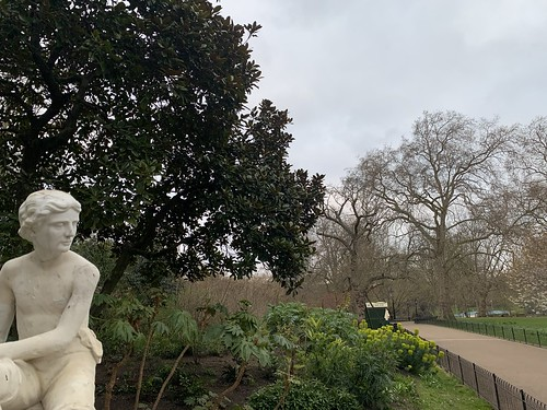 Statue of a boy in St James's Park