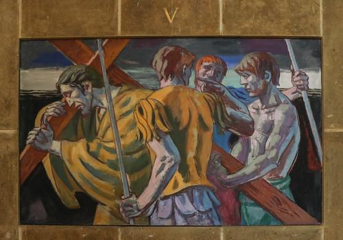 5th Station - Simon of Cyrene Helps Jesus