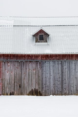 Old Barn with Gable in Central Michigan