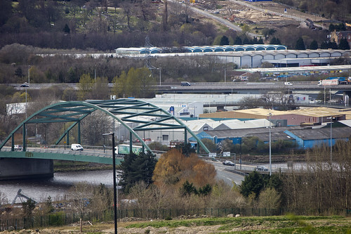 A view from my window showing Scotswood Bridge, crossing the river Tyne  IMG_2515