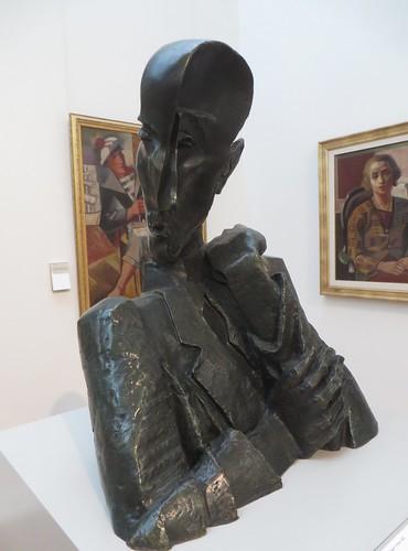 Buste de François Mauriac, 1943, Ossip Zadkine (1890-1967), Musée des Beaux-Arts, Bordeaux, Nouvelle-Aquitaine, France.
