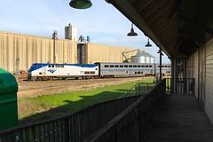 Amtk #822 by Saginaw depot