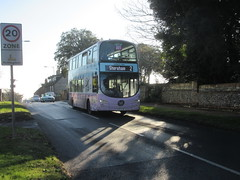 BJ63 UJU (Route 2) at Falmer Road, Rottingdean