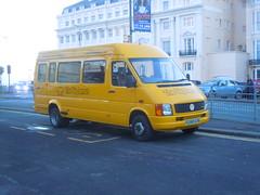 S296 EOB (Big Lemon Minibus) at Old Steine, Brighton