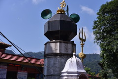 The trident and other items associated with the Hindu god Shiva