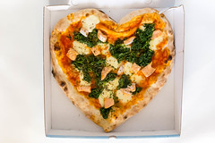 Pizza Box with Salmon Pizza in Heart Shape to #SupportYourLocal