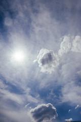 Sun and sky.