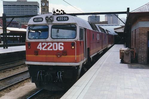 42206 at Sydney Central - 3 November 1989