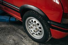 Back wheel on Peugeot 205