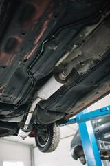Exhaust pipe closeup.