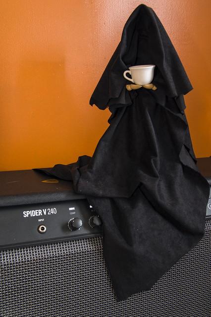 Practice amp + coffee