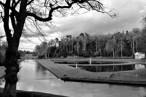 Studley Royal water gardens near Ripon, Yorkshire, England.
