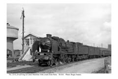 Calais Maritime. 231.E.20 & train arriving from Paris. 18.8.61 - Photo of Les Attaques