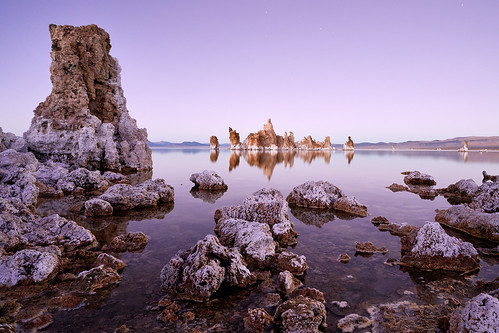 After Sunset Panorama at Mono Lake - California