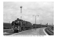 Calais Maritime. 231.E.10 & train from Rome via Lille. 18.8.61
