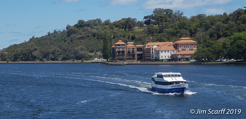 Sightseeing boat in Perth harbor