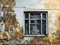 Wall and window. Decay