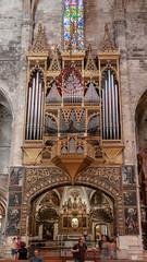 Organ - Interior of Cathedral of Santa Maria of Palma - Spain