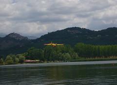 Lago di Piediluco & firefighter plane