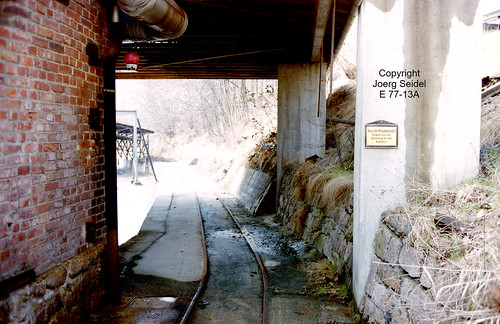 DE-08359 Breitenbrunn-Carolathal (Erzgebirge) VEB Pappenfabrik 700 mm spurige Feldbahn Gleisanlagen im April 1991
