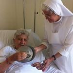 الأم أمال الكاتدرائية في المستشفى  - تصوير الأستاذ مينا فؤاد