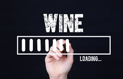 Handwriting Text Wine Loading. Concept meaning  Forecasting the future event