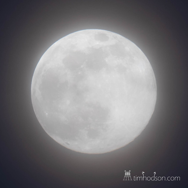 Hazy super moon