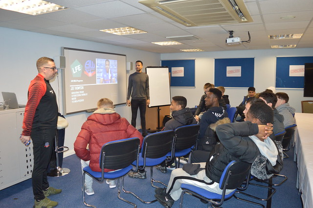 Joe Thompson Life Skills session at Bolton Wanderers
