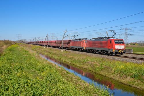 DBC 189 032 + 189 042 met ertstrein, Herveld