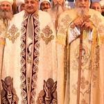 القس فيلوباتير صدقي مع قداسة البابا تواضروس والأنبا انطونيوس مطران الكرسي الأورشليمي