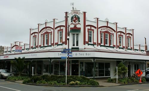 Opotiki: Rostgard's Building (c.1914)