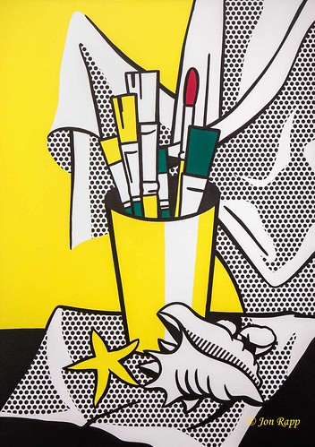 1972 Still Life With Brushes, Shell and Star Fish by Roy Lichtenstein (KC) (edit)