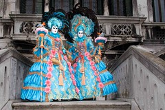 Germans celebrating the Carneval of Venice