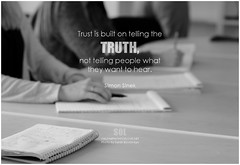 Simon Sinek Trust is built on telling the truth, not telling people what they want to hear