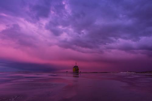 vliehors purple  evening skies