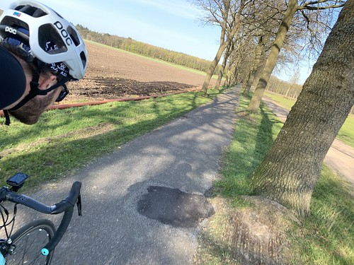 65km ride, saw the first tulip field of the year and some playful horses