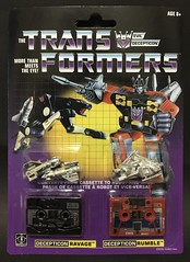 Transformers G1 1984 reissue Ravage and Rumble