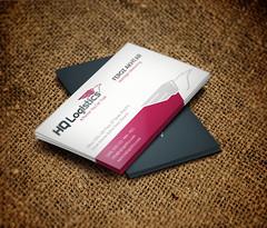 Business Card Design for HQ Logistics