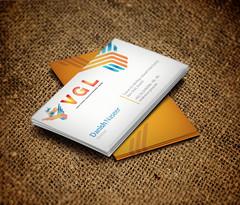 Business Card Design VGL, a Logistics Client