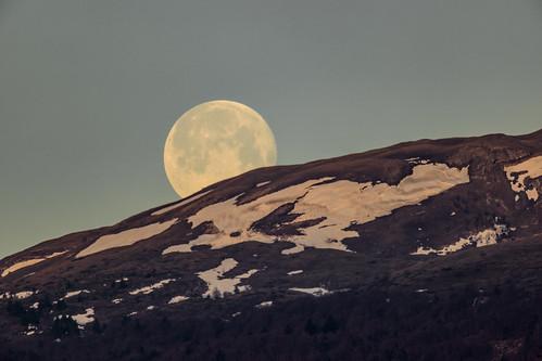 Coucher de lune.