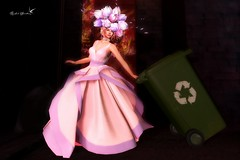 TAKING THE BINS OUT IN A GOWN