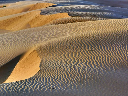 Play of Light and Shades - Sunset at Imperial Sand Dunes, California