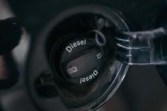 Diesel fuel cover closeup