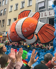 Marine Plastic Pollution motto at Cologne Carnival Rosenmontag 2019, Germany