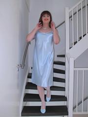 Pale blue doll