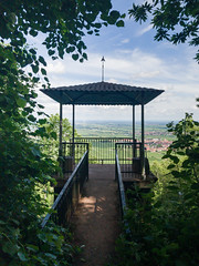 Observation deck with a view to the Upper Rhine Valley, Germany