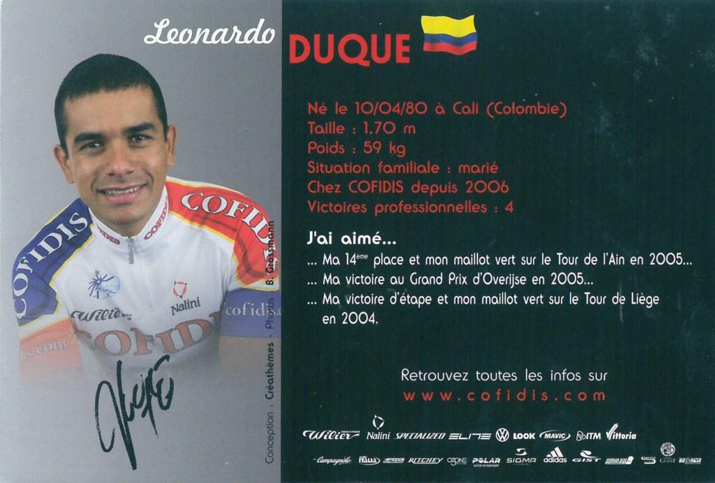 Duque Leonardo - Cofidis, le crédit par téléphone 2006 (2)